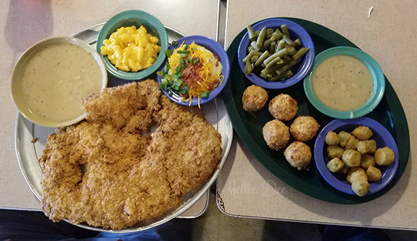 Hickory Hollow   Houston, Texas   Large Rancher Chicken Fried Steak with sides