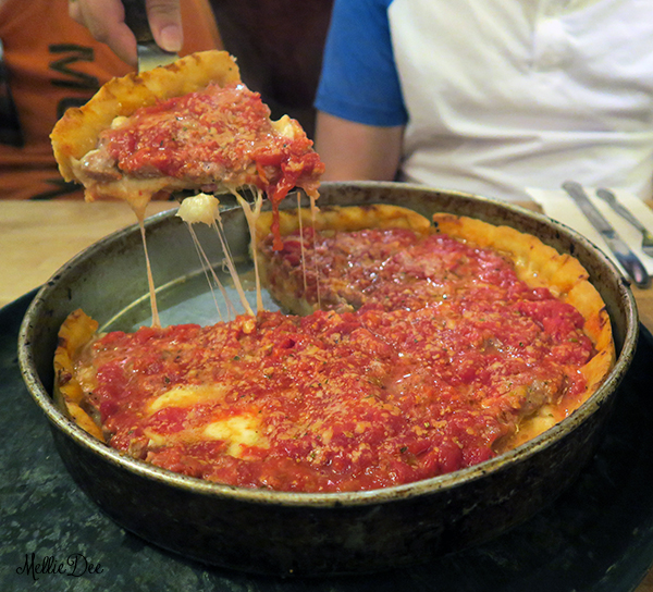 Lou Malnati's Pizzeria | Chicago, Illinois | The Malnati Chicago Classic Large Pizza Sliced