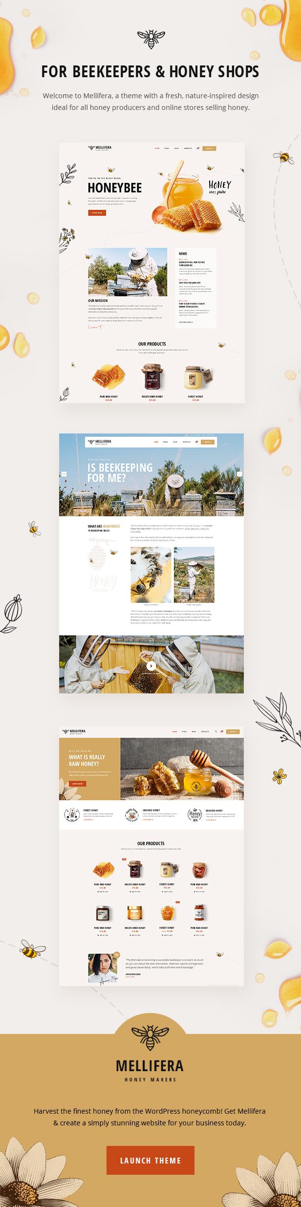Mellifera - Beekeeping and Honey Shop Theme - 1