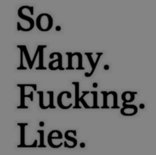 so many fucking lies