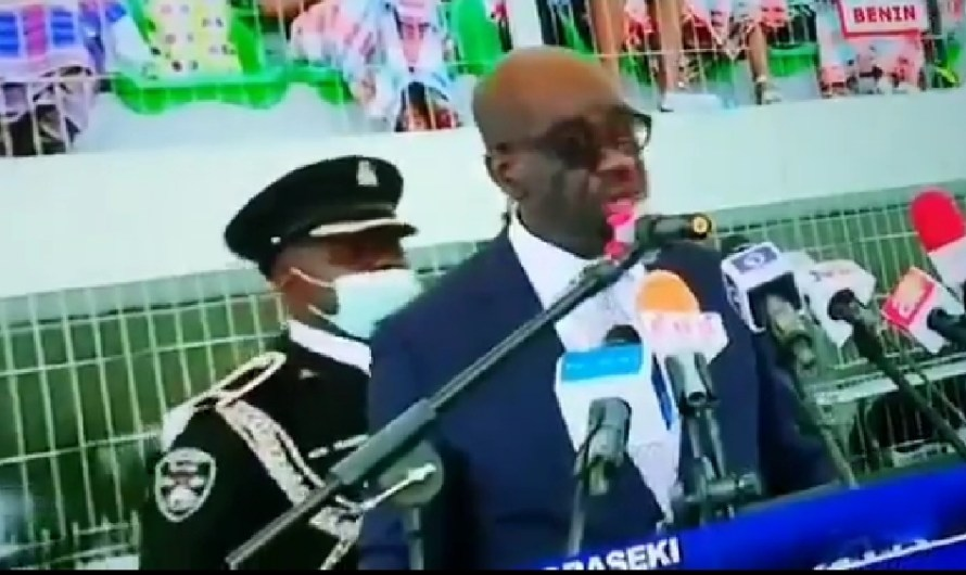 Gov. Obaseki's  ADC collapses during Inauguration in Edo State