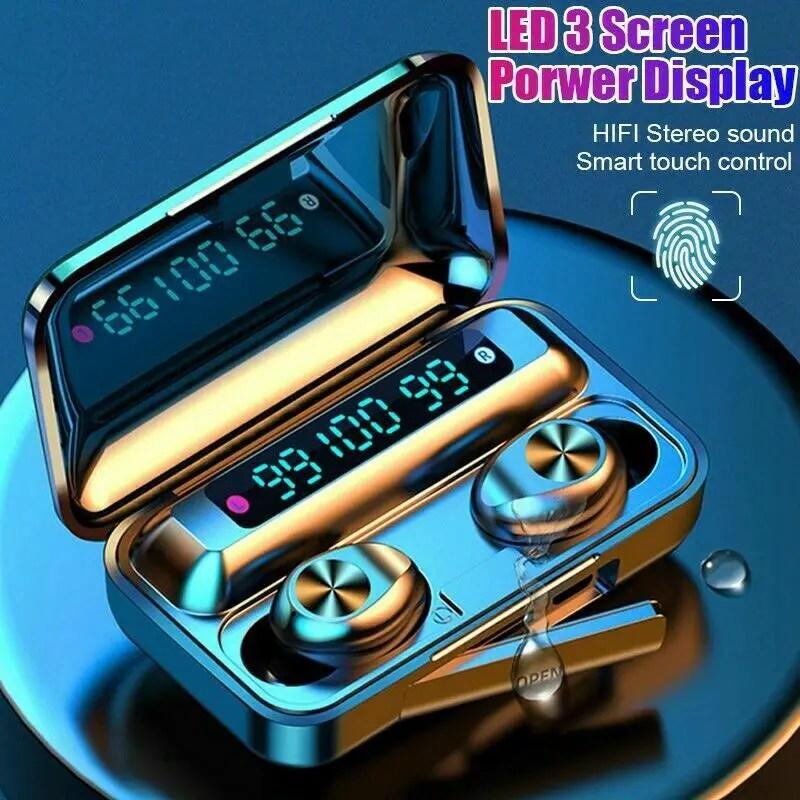 Mini Bluetooth 5.0 Headset TWS Wireless Earphones Stereo Headphones Earbuds US