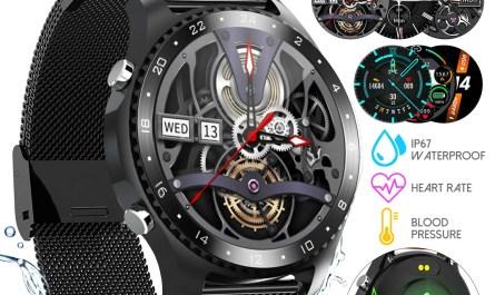 Bluetooth Smart Watch Waterproof Heart Rate Blood Pressure Fitness Tracker Touch