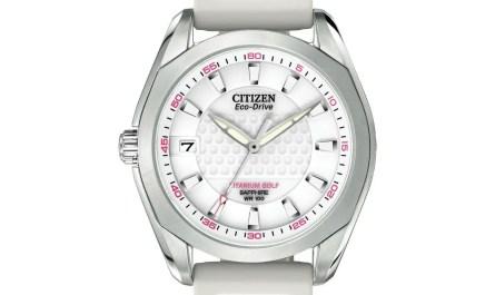 Citizen Eco-Drive Women's Golf Titanium White Poly Golf 34mm Watch EO1070-05A