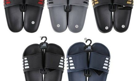 Men's Slip On Sport Slide Sandals Flip Flop Shower Shoes Slippers House Pool Gym