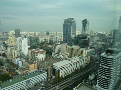 Bangkok skyline from hotel window