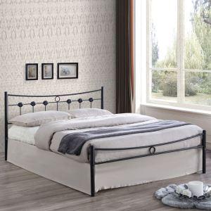 DUGAN κρεβάτι διπλό Μεταλλικό Βαφή Σφυρήλατη Μαύρη