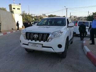 Véhicule de l'ONU à Ramallah