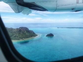 Raivavae vue de l'avion