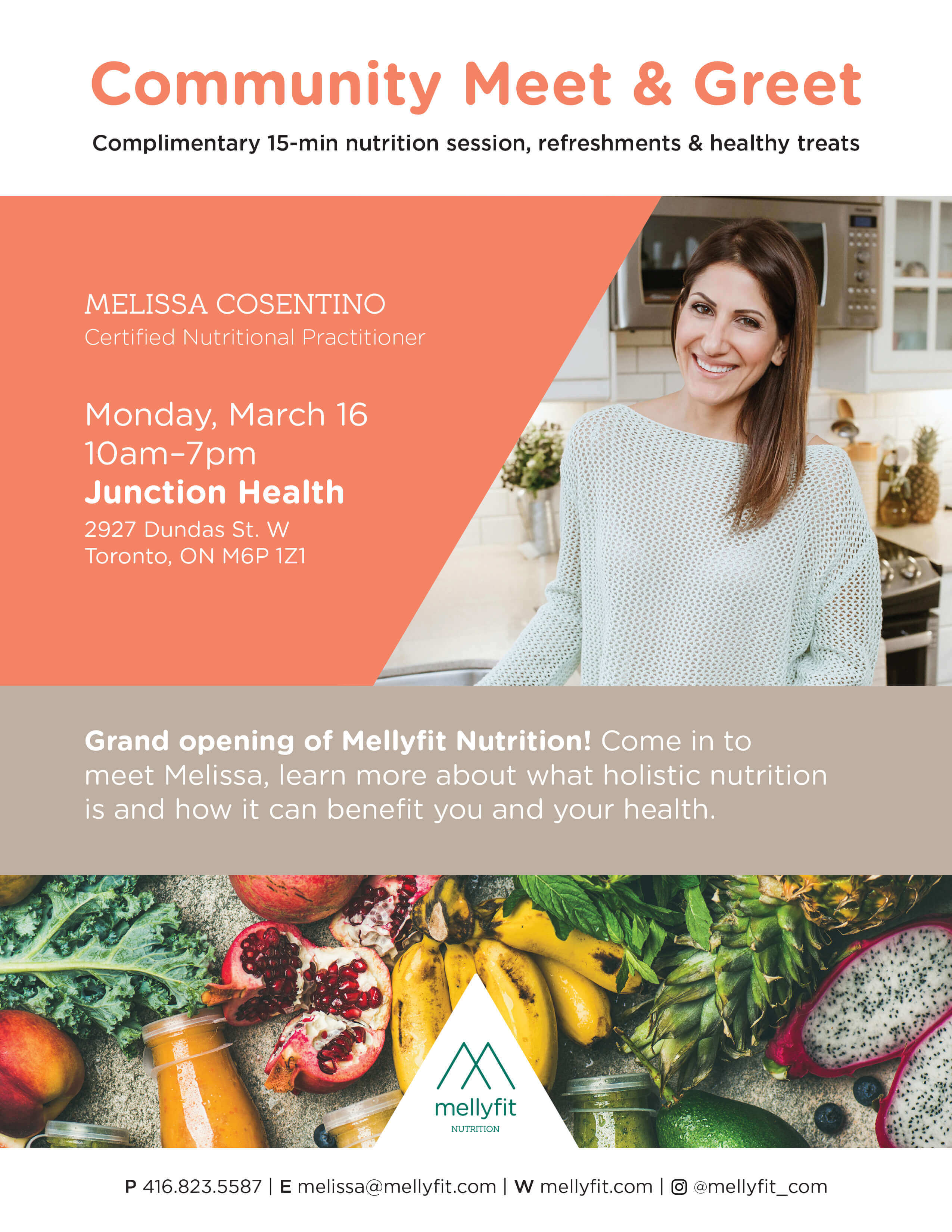 MellyFit Nutrition - Event on March 16th - Meet and Greet