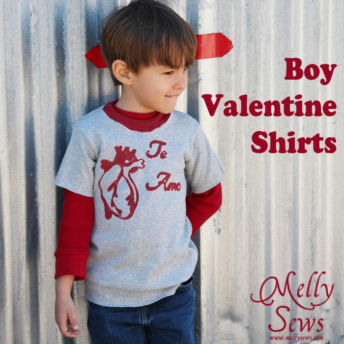 Boy Valentine Shirts Melly Sews