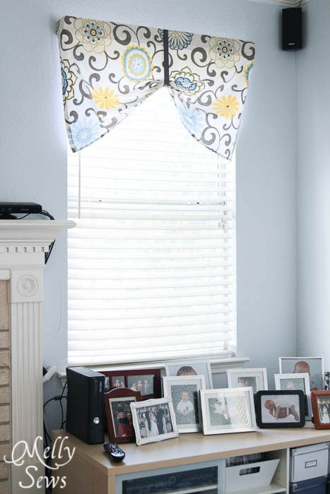 DIY Valance Tutorial by Melly Sews
