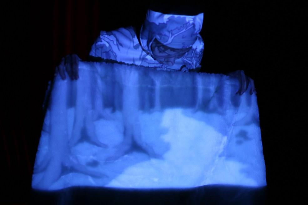 Scénographe théâtre Les Couleurs de l'Oiseau Blanc, une histoire, Assilem décors, scénographe Bordeaux, peintre en décor, peintre décoratrice