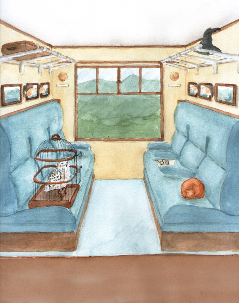 Maquette décor chambre enfants Train magique, Assilem décors, peintre en décor Bordeaux, décoration intérieure, peintre décoratrice