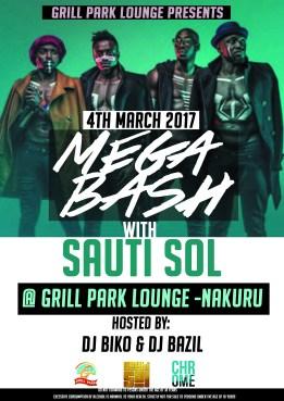 Sauti Sol Mega Bash @ Grill Park Lounge
