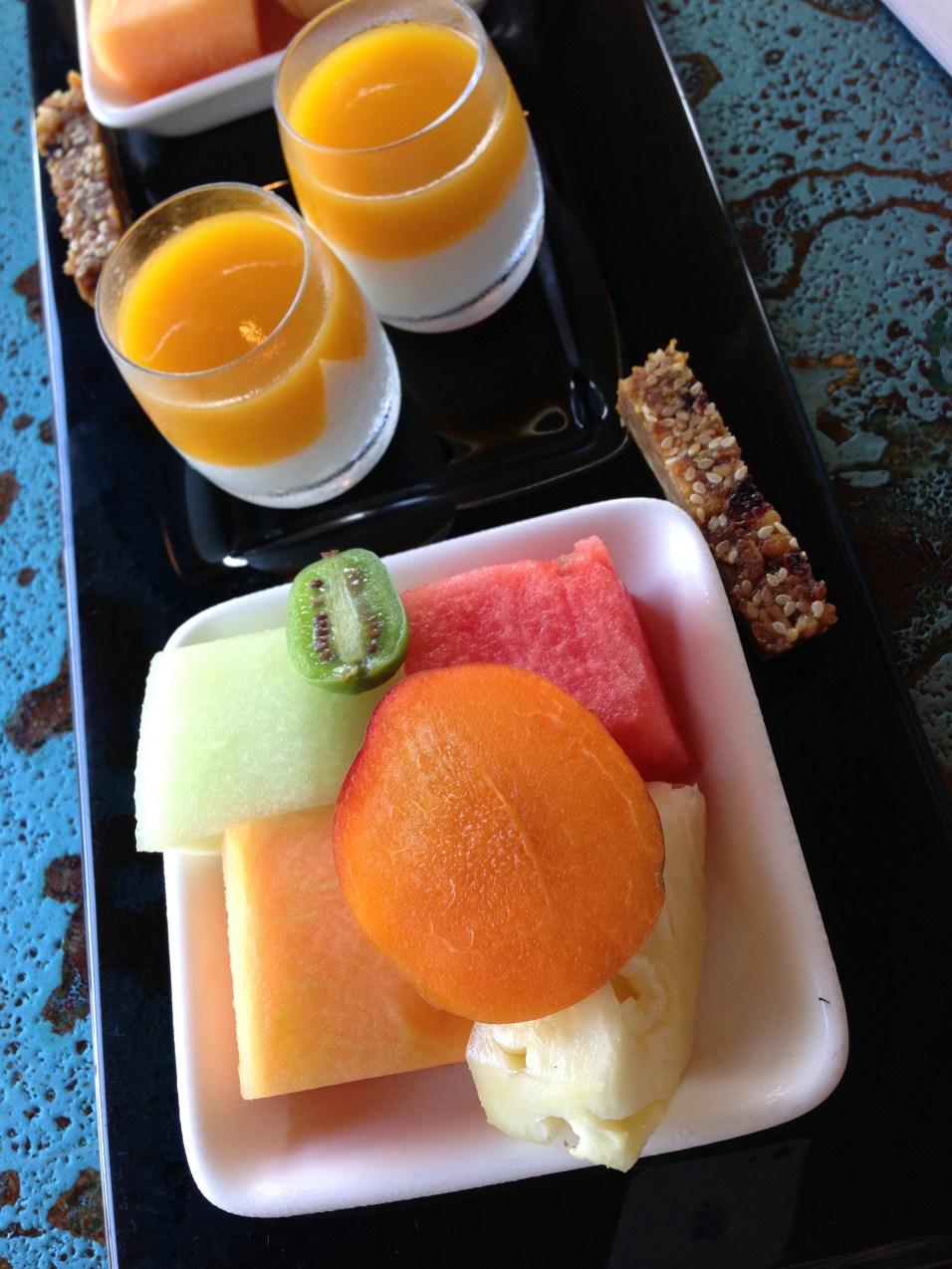 FRUIT PLATTER AND MINI MANGO PUREE YOGURTS | LONG PAVILION