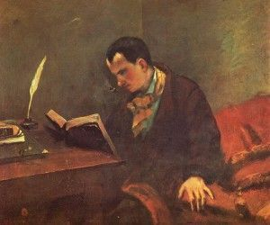 Baudelaire by Gustave Courbet