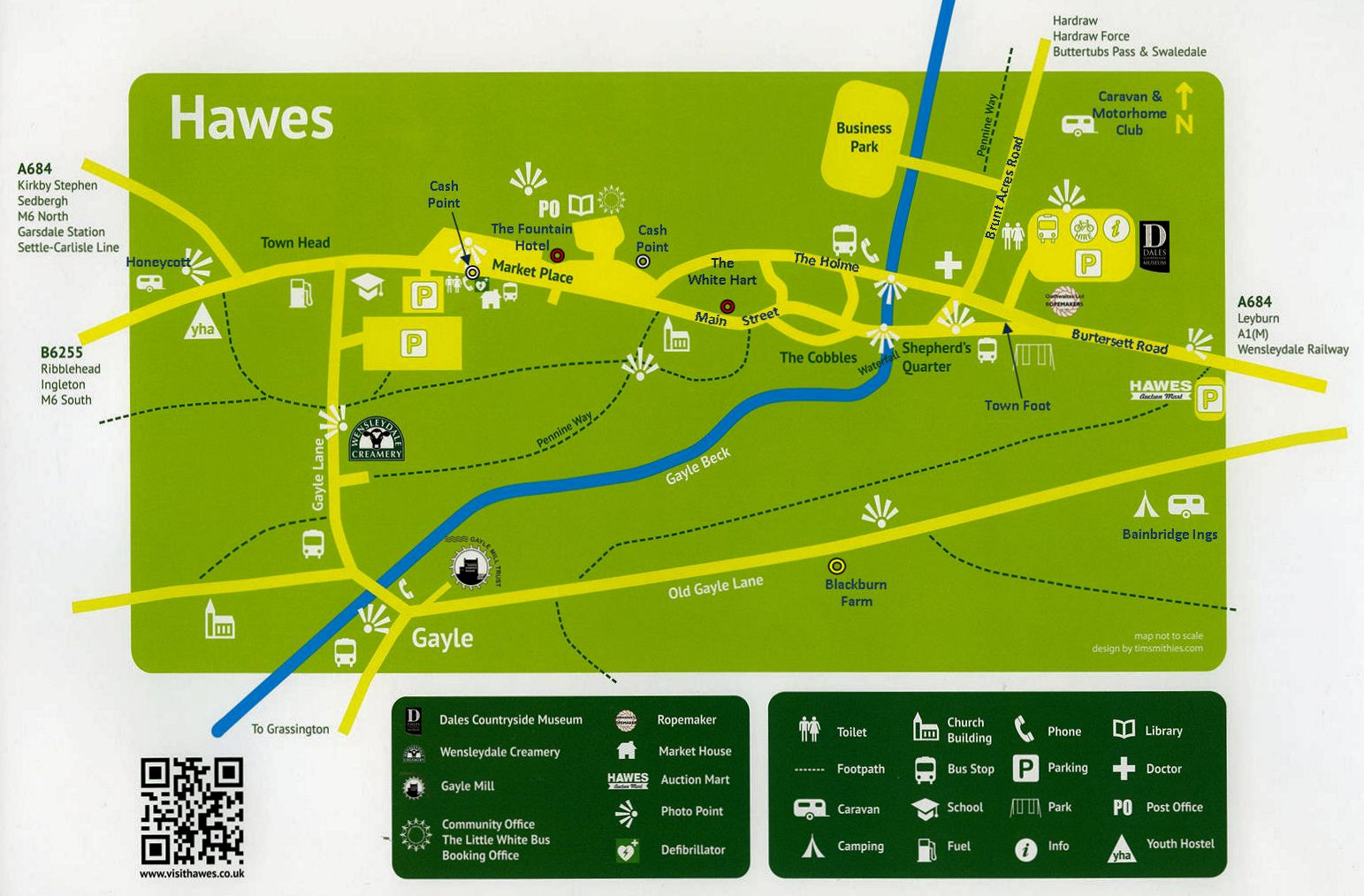 Map of Hawes