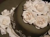 White gum paste roses