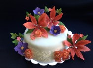 Gum paste lilies, roses, and flowers