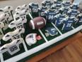 super bowl football cookie display 2