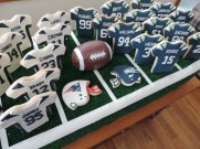 super bowl football cookie display 2