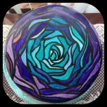 stained glass cake with food coloring