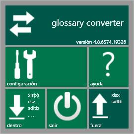 Ventana principal de Glossary Converter