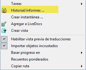 Accedemos a la función de historial de versiones haciendo clic con el botón secundario del ratón sobre un archivo.