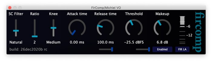 screenshot of free fircomp 1 compressor