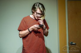 Iconoclast Poetry Open Mic at 10 Johnson Avenue in the Irvington Historic District of Indianapolis, Indiana on August 23, 2018