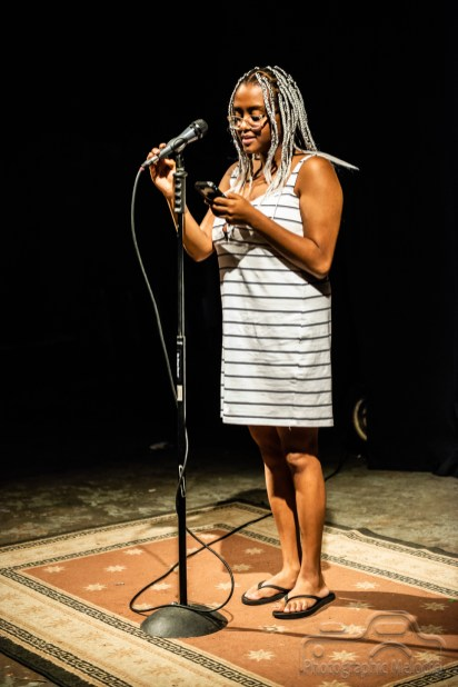 Iconoclast Poetry Open Mic Night at the Irving Theater in the Irvington Historic District of Indianapolis, Indiana on August 9, 2018