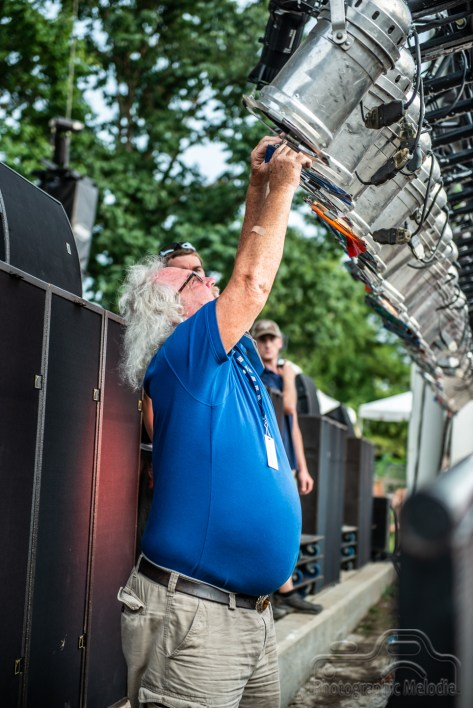 The Chevrolet Free Stage gets readied for Robby Krieger & Company at the Indiana State Fair on August 18, 2018