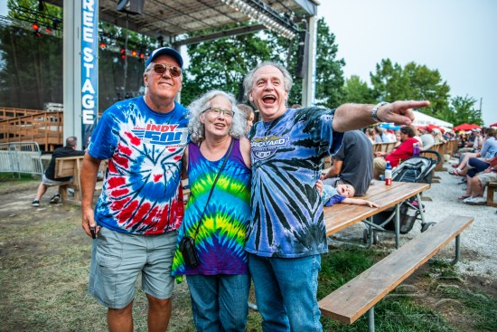 Fans enjoy a phenomenal show by Robby Krieger & Company on the Chevrolet Free Stage at the Indiana State Fair on August 18, 2018