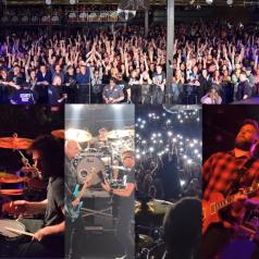 Melodie (top right) covering Breaking Benjamin with Starset in Fort Wayne, Indiana. Photo courtesy of Breaking Benjamin