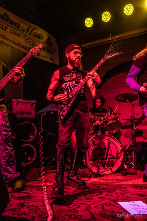 Lucifist brought their blistering thrash from Lafayette, In to Black Circle Brewing Co. in Indianapolis, In on Friday, February 15, 2019. Photo cred Melodie Yvonne