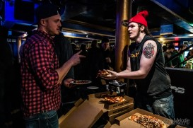 The SOLD OUT Rod Tuffcurls' National Pizza Party presented by HotBox Pizza was an extraordinary International Pizza Day celebration including FREE HotBox Pizza and a fabulous pizza drop on February 9, 2019 at The Vogue Theatre. Photo cred Melodie Yvonne