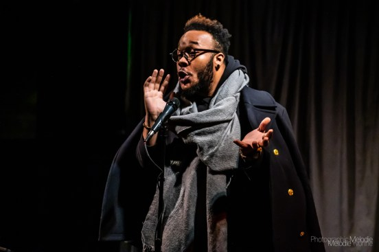 Iconoclast Poetry Open Mic ft Stephen Mills and hosted by Devon Ginn was irresistible at the Irving Theater in Indianapolis, Indiana on March 7, 2019. Photo cred Melodie Yvonne