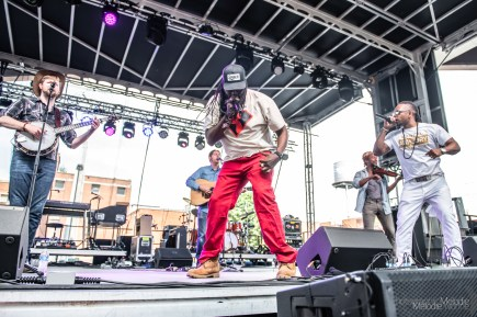 Gangstagrass performs live at The Rhythm 'N Blooms Festival in Old City Knoxville on Sunday, May 19, 2019. Photo cred Melodie Yvonne