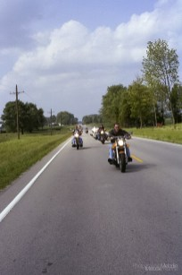 Pork Chop Run stretched across southern Indiana during a 2 day event in the late summer of 2002. Photo cred Melodie Yvonne