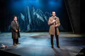 Purdue Theatre's production of Angels in America, Part One: Millennium Approaches by Tony Kushner and directed by Richard Stockton Rand is a dramatic story stunningly performed by an amazing cast. Show runs February 21 through March 1, 2020 at the Nancy T. Hansen Theatre in Yue-Kong Pao Hall of Visual and Performing Arts. Photo cred Melodie Yvonne