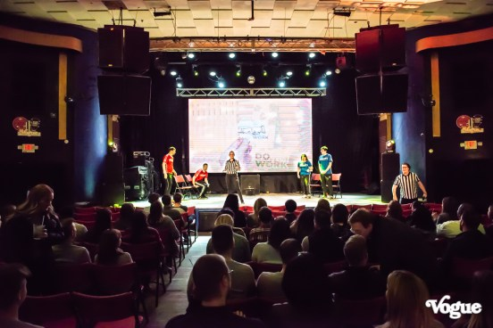 Lessonly Presents Winter 2020 SOTU with Comedy Sportz was a fun celebration filled with pizza, drinks, and friends at The Vogue Theatre on Thursday, February 20, 2020. Photo cred Melodie Yvonne