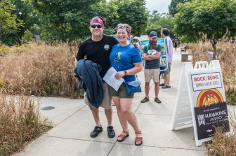 The first fans at the gate for a magical evening with The Wood Brothers at Rock the Ruins on Saturday, August 21, 2021. Photo cred Melodie Yvonne