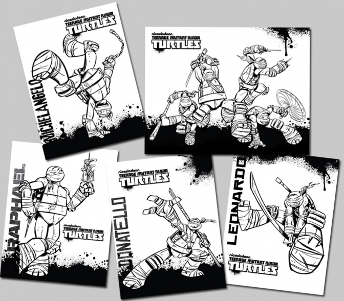 mutant ninja turtles coloring pages cooloring com