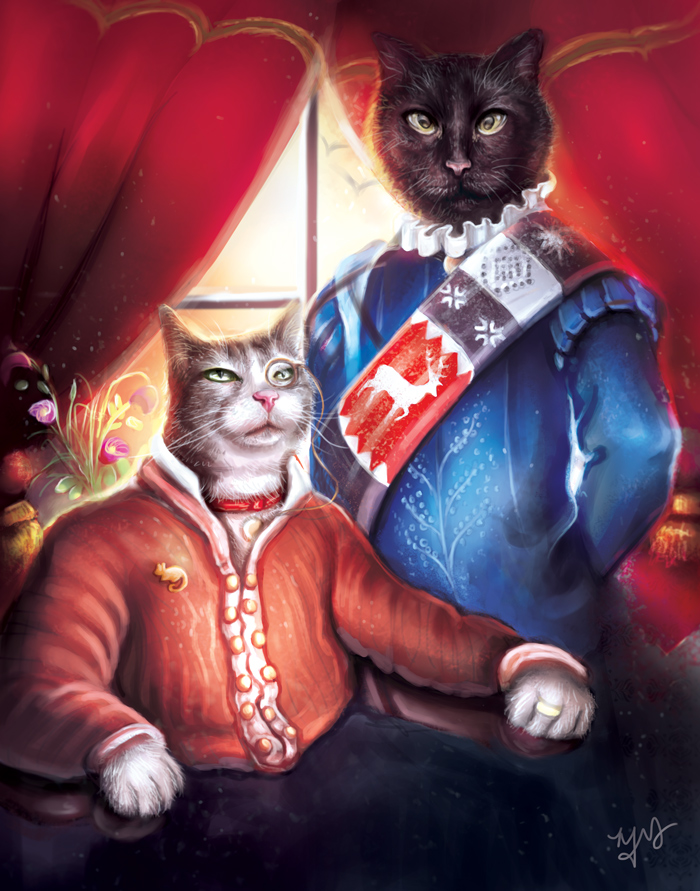 Commission - Victorian Cats