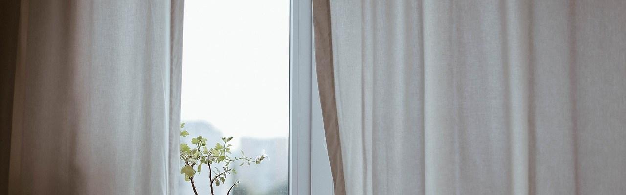 Man behind the curtains