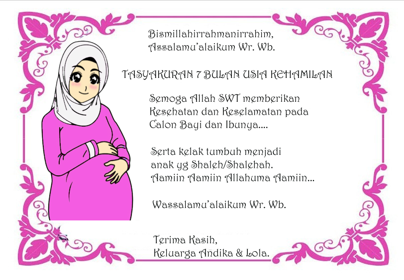 Tasyakuran 7 Bulan Usia Kehamilan Ms Lomar