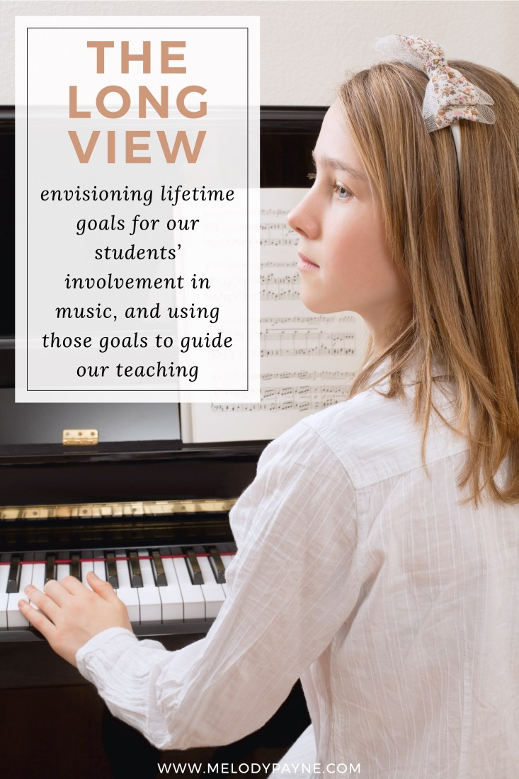 Piano student thinking about the future