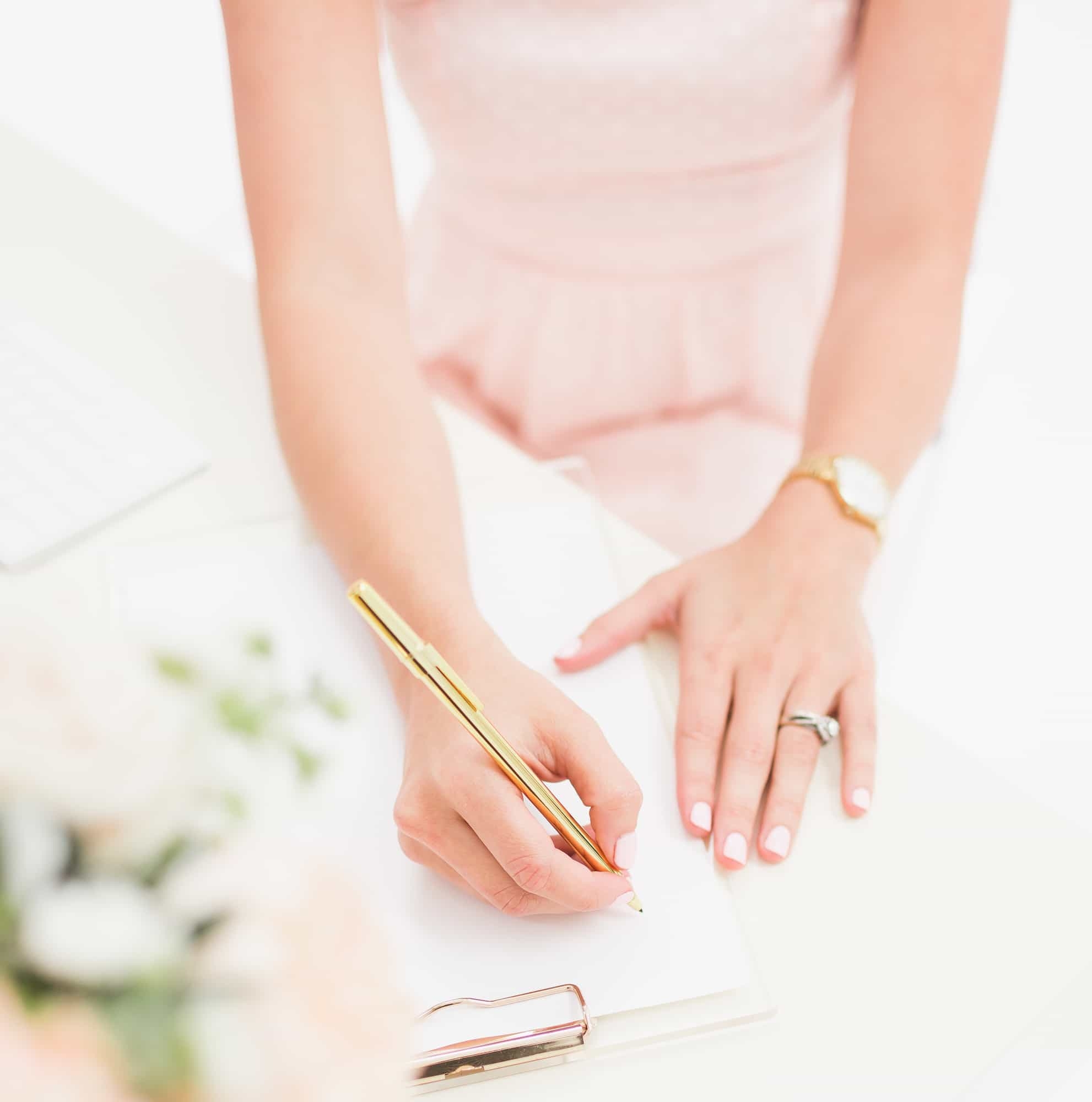SC Lifestyle Blush Hands Writing Pink Dress