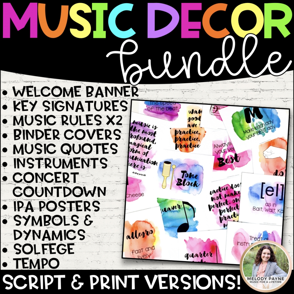 Watercolor Music Decor Bundle Cover Image